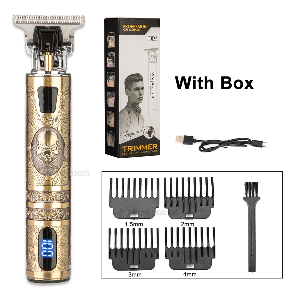 2021 T9 Electric Hair Trimmer Cordless Shaver Beard Trimmer Electric Shaver for Men 0mm Men Barber Hair Cutting Machine For Men
